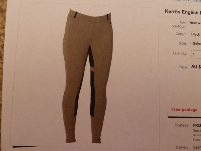 Kerrits Breeches Power Stretch Fullseat
