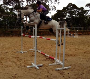 Punk and Issy 1.25 oxer 11 March 2014