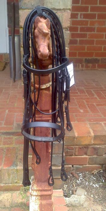 Riviera Double Bridle Black Cob