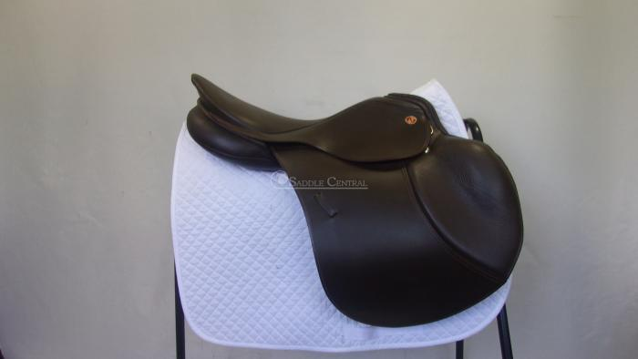 """Kieffer Competition BROWN Jump Saddle size 2 17.5"""""""