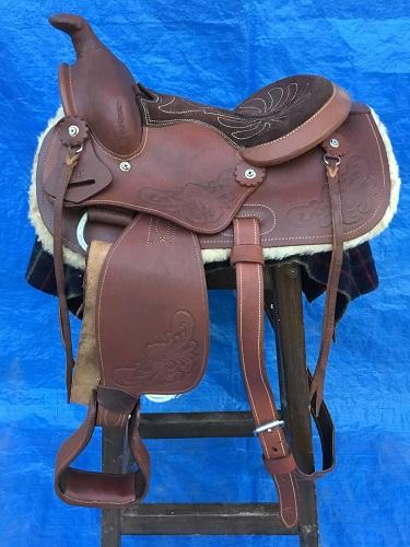 Little Kids Leather Western Saddle 11""