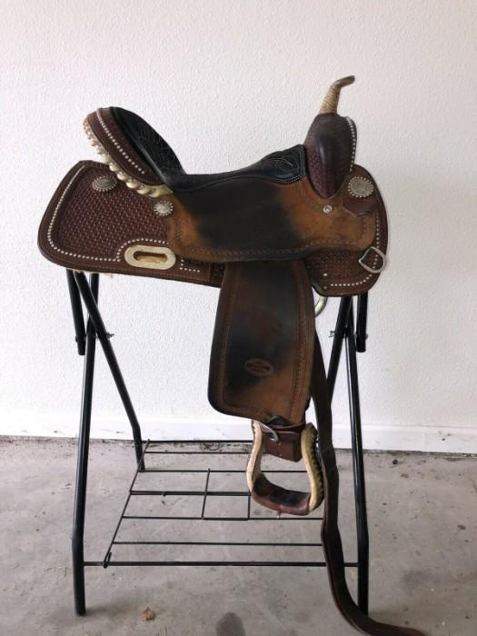 "Billy Cook Original Barrel Saddle 15"" Model 1530"