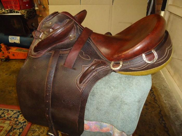Australian made , stock saddle fully mounted