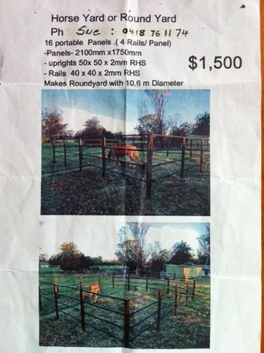 """16 Quality Horse Yard Panels Inclusive of Gate"""