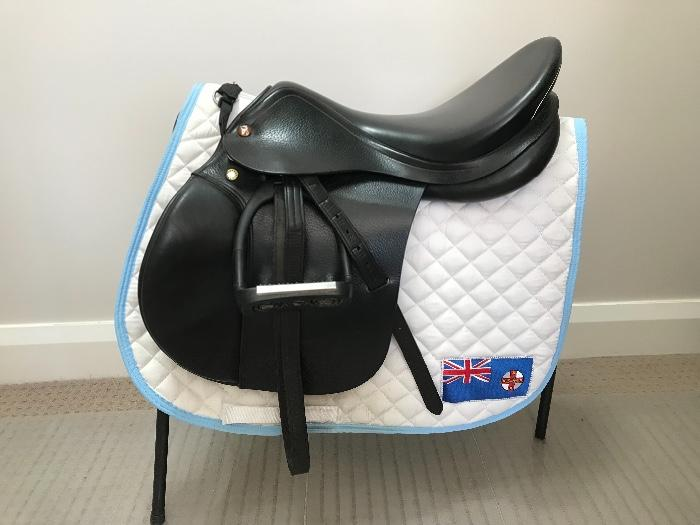 "Prestige Green Star 17"" Jumping Saddle"