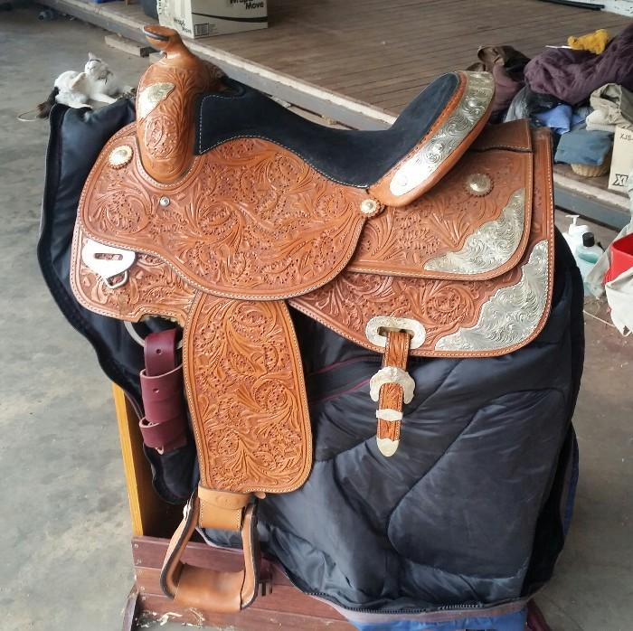 AS NEW IMPORTED WESTERN SHOW SADDLE