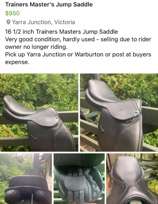 Trainers Master Jump Saddle