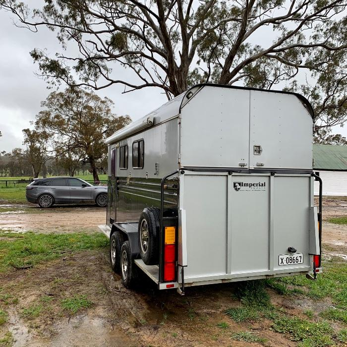 Two Horse Angle load Camper