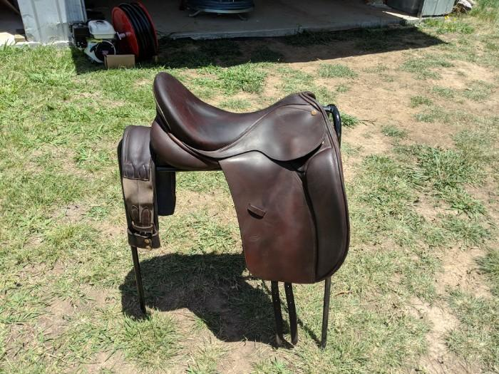 Brown Bruce Smith Dressage saddle