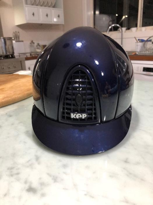 KEP Navy Blue Chrome Helmet.