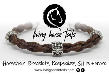 Handmade Horsehair Bracelets by Living Horse Tails Earrings, keyrings pendants and more