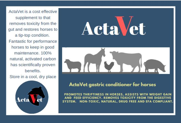ActaVet - Activated charcoal for horses and pets