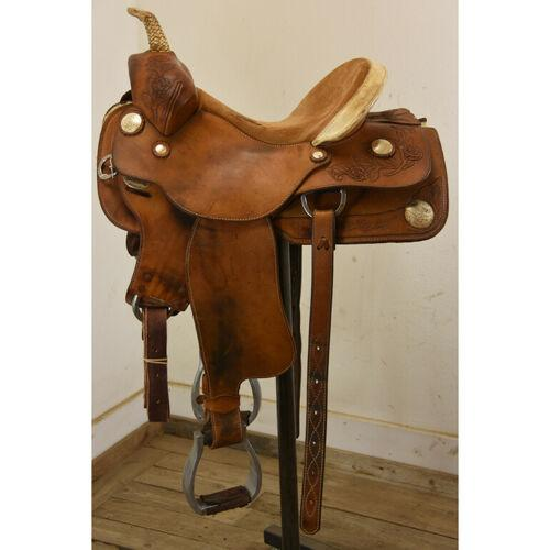 "Used 13.5"" Ortho Flex Barrel Racing Saddle Code: U"