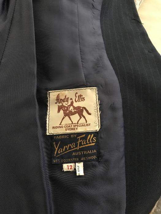 Andy Ellis hacking jacket - Navy Blue pinstripe