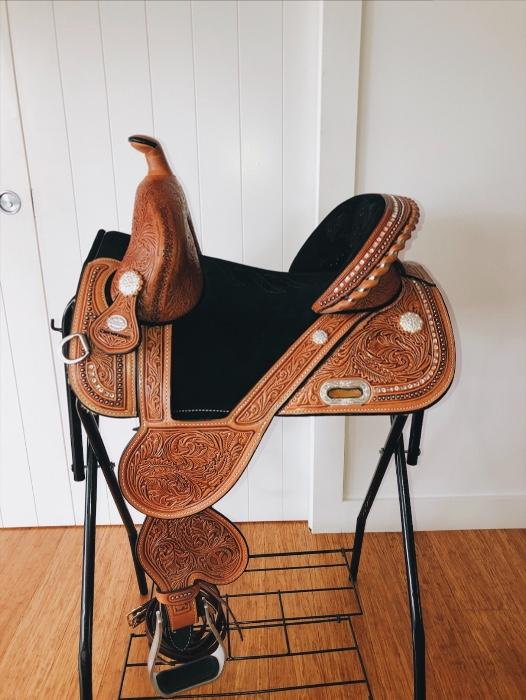 Imported Tammy Fischer Barrel Saddle