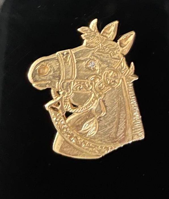 14ct Gold Horse Head
