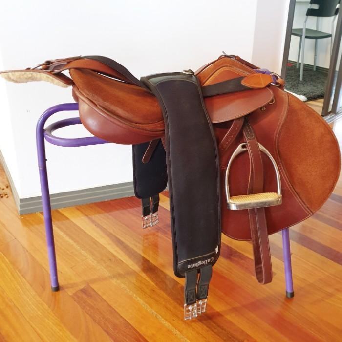 "18"" Pessoa jump saddle roughout seat changeable gu"