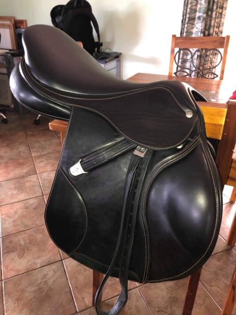 "Bates Elevation 17"" Jumping Saddle"