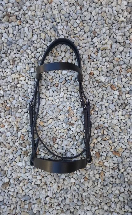 Carrington English Leather Bridle + Bling Browband